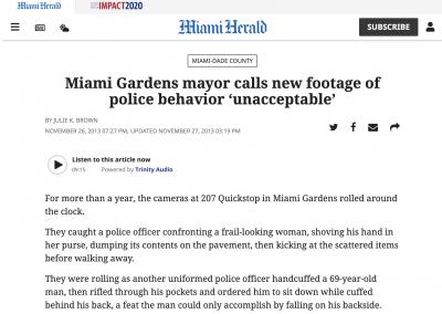 Saleh Case with Miami Gardens