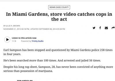 Miami Herald Report on Sampson Case